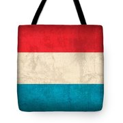 Luxembourg Flag Vintage Distressed Finish Tote Bag