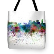 Luxembourg Skyline In Watercolor On White Background Tote Bag