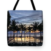Luxury Infinity Pool At Sunset Tote Bag