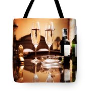 Luxury Interior Hotel Room With Elegant Service Tote Bag