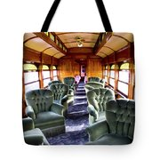 Luxury Lounge Car Of Early Railroading Tote Bag