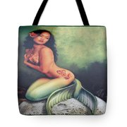 Lydia The Tattooed Mermaid Tote Bag