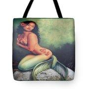 Lydia The Tattooed Mermaid Tote Bag