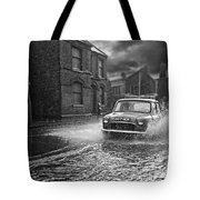 Lye Rain Storm, Morris Mini Car - 1960's    Ref-246 Tote Bag