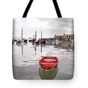 Lyme Regis Harbour Abstract Tote Bag