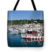Lyme Regis Harbour On A July Morning Tote Bag