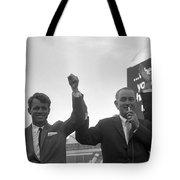 Lyndon Johnson With Robert Kennedy Tote Bag