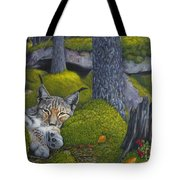 Lynx In The Sun Tote Bag