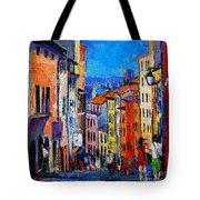Lyon Colorful Cityscape Tote Bag
