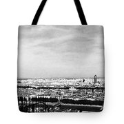Lyon From The Basilique De Fourviere-bw Tote Bag