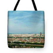 Lyon From The Basilique De Fourviere-color Tote Bag