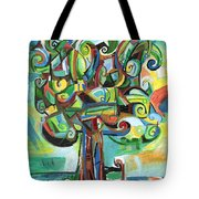 Lyrical Tree Tote Bag