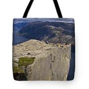 Lysefjord With Prekestolen Tote Bag