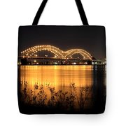 The Hernando De Soto Bridge M Bridge Or Dolly Parton Bridge Memphis Tn  Tote Bag