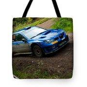 M. Cairns Driving Subaru Impreza Tote Bag