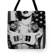M M U S A In Black And White2 Tote Bag