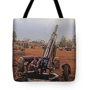 M102 105mm Light Towed Howitzer  2 9th Arty At Lz Oasis R Vietnam 1969 Tote Bag