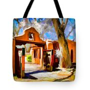 Mabel's Gate As Oil Painting Tote Bag