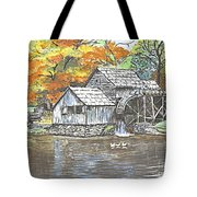 Mabry Grist Mill In Virginia Usa Tote Bag