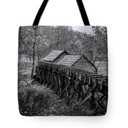 Mabry Mill Water Shute In Black And White Tote Bag