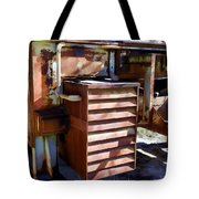 Micabrite Plant Rusty Gold Tote Bag