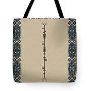 Macaleese Written In Ogham Tote Bag