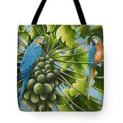 Macaw Parrots In Papaya Tree Tote Bag