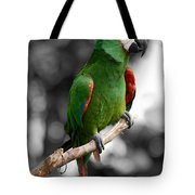 Macaw With Black And White Background Tote Bag