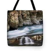 Macdonald Creek Falls Glacier National Park Tote Bag