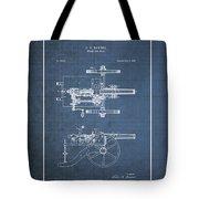 Machine Gun - Automatic Cannon By C.e. Barnes - Vintage Patent Blueprint Tote Bag