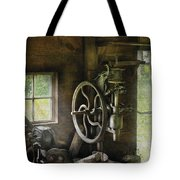 Machine Shop - An Old Drill Press Tote Bag