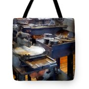 Machine Shop With Punch Press Tote Bag