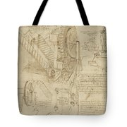 Machines To Lift Water Draw Water From Well And Bring It Into Houses From Atlantic Codex  Tote Bag