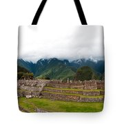 Machu Picchu Main Square And The Group Of The Three Doorways Tote Bag