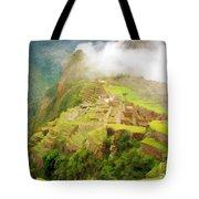 Machu Picchu Textured 2 Tote Bag