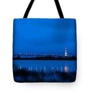Mackinac Bridge At Dawn Tote Bag