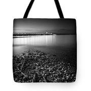 Mackinac Bridge Bw Tote Bag