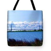 Mackinac Bridge Landscaped Tote Bag