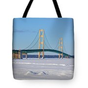 Mackinac In March Tote Bag