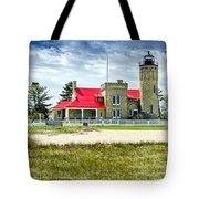 Mackinac Point Lighthouse Michigan Tote Bag