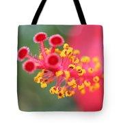 Macro Close Up Of Hibiscus Pollen  Tote Bag