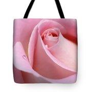 Macro Pink Rose Flower Raindrop Tote Bag