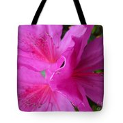Macro Purple Azalea Flower Tote Bag
