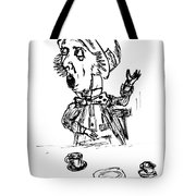 Mad Hatter Tote Bag by Donna Haggerty