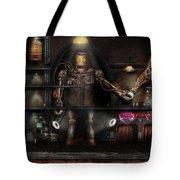 Mad Scientist - The Enforcer Tote Bag by Mike Savad