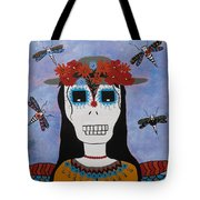 Madame Dragonfly Day Of The Dead Tote Bag