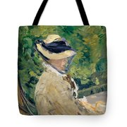 Madame Manet At Bellevue Tote Bag