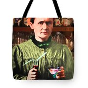 Madame Marie Curie Shaking Up A Killer Martini At The Swank Hipster Club 88 20140625 Tote Bag