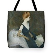 Madame Marthe Letellier Sitting On A Sofa Tote Bag by Paul Cesar Helleu