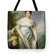 Madame Tallien 1773-1835 Oil On Canvas Tote Bag